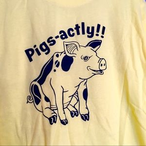 Pigs-actly yellow graphic tee